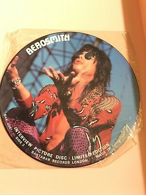 Aerosmith LP British Import Picture Disc Vinyl Made in England, Limited Edition