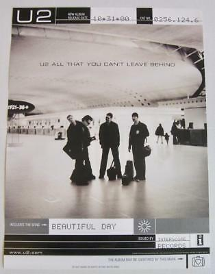 U2 All That You Can't Leave Behind  2000 Promo Poster 18 x 24