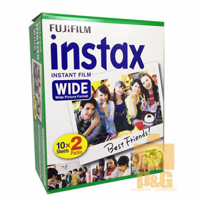 New Fuji Instant Film Instax White Wide Film 1 Pack (20Pcs) For 210 200 300