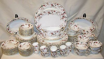 Minton Bone China Ancestral Early Globe 85 Piece Dinner Set