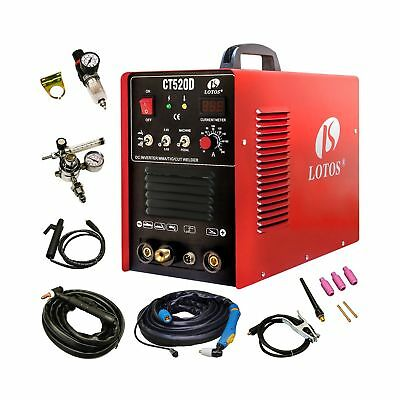 Lotos CT520D Plasma Cutter Tig Stick Welder 3 in 1 Combo Welding Machine, 50A...