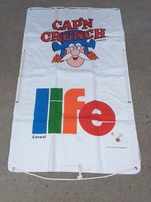 Vintage Cap'n Crunch & Life Cereal Heavy Canvas Raft - 1980's - Never Used