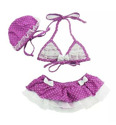 NEW Toddler Girls Bikini Swimsuit With Matching Cap Size 2t