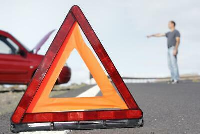 Warning Triangle Eu Approved Emergency Breakdown Red With Stand & Case For Mini
