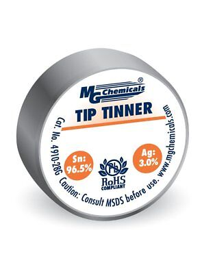 Lead Free Silver Tip Tinner 28g MG Chemicals Oxidized Soldering Tip Repair NEW