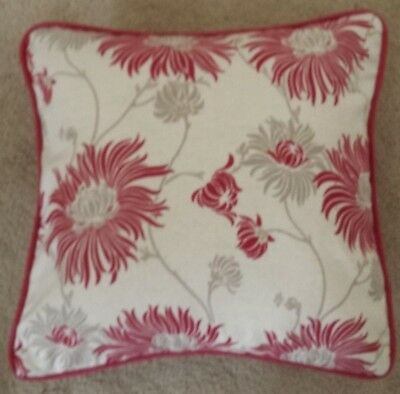 Handmade Cushion Cover in Laura Ashley Kimono Cranberry Floral Fabric
