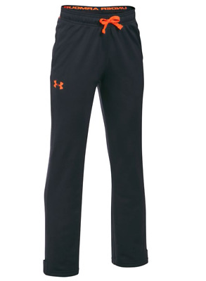 Under Armour Boys' Brawler Slim Pants Anthracite/Magma Size Youth X-Small NWT
