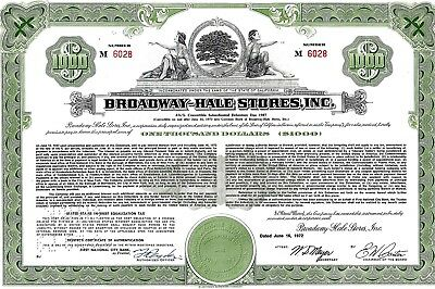 Broadway-Hale Stores Inc., California, 1972 , 4 3/4% Deb. due 1987  (1.000 $)