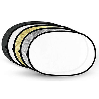 """Multi 5 In 1 Portable 24""""x36""""/60Cmx90Cm Collapsible Multi Disc Light Reflector D"""