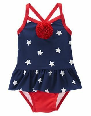 NWT Gymboree Swimsuit Star Spangled Summer 6 12 18 24 mo 2T 3T 5T July 4th girl