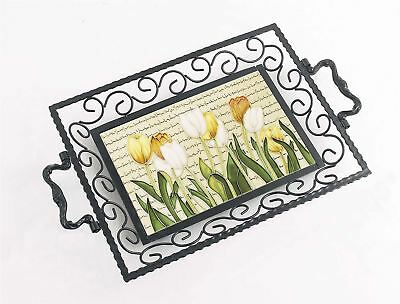 Tulips from Amsterdam Iron & Ceramic Serving Tray