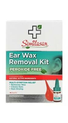 2 PACK Similasan HOMEOPATHIC Relief Peroxide Free Swiss Ear Wax Removal Kit