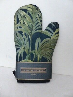 House of Hackney Palmeral Cotton Oven Mitt/Glove - Midnight/Green