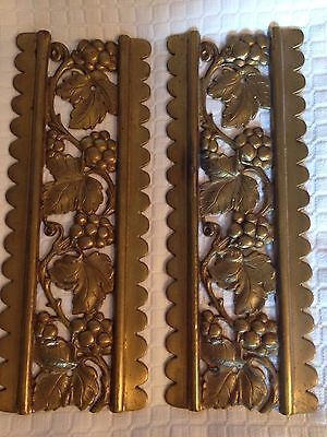 Vintage/estate Heavy Brass Or Bronze? Swinging Door Push Plates 10 3/8''x 4''