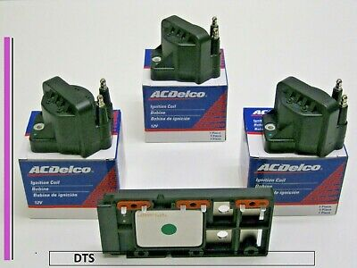 Set of Three A/C Delco Coils and One WPS Ignition module, D1977A,DM1977,D555