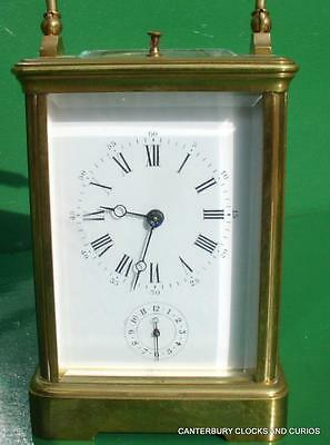 antico Francese Grande corniche Striking ripetitore allarme 8 DAY Carriage Clock