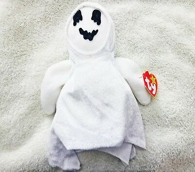 Ty Beanie Baby Sheets 1999 Retired with Tags Ghost Plush Beanie Babies Toy Error