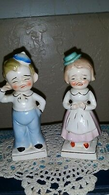 Vintage Turnabout Boy & Girl Salt and Pepper Shakers