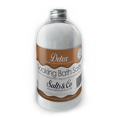 Ginger, Sweet Orange, Lemongrass Epsom Bath Salts - Detox - Salts & Co - 500g