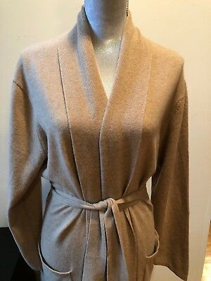 UGG EVIE WRAP Hooded Robe 100% Cashmere Gray Grey Heather -Size Xs ... 7d6c7954b