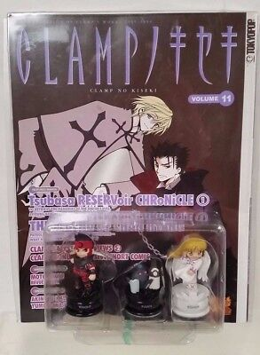 TokyoPop 2004 Clamp No Kiseki volume 11 with 3 chess pieces knight pawn bishop
