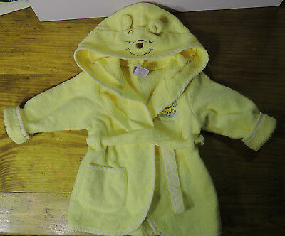 Disney Winnie the Pooh Yellow Infants Newborn Hoodie BATH ROBE - Unisex