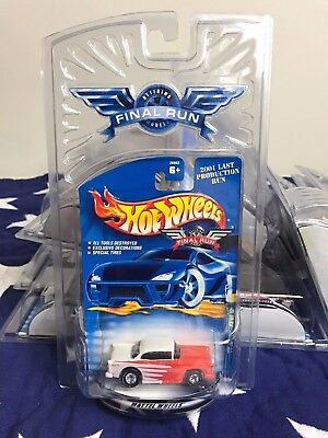 HOT WHEELS Final Run '55 Chevy Hard Top with Real Rider Tires from 2001