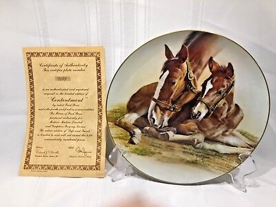 Fred Stone American Artists Plate CONTENTMENT + FRAME 4th in series