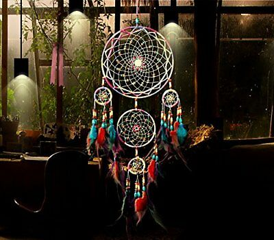 31'' Large Dream Catcher Colorful Feathers Wall Home Office Hanging Ornament NEW