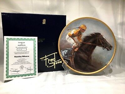 Fred Stone American Artists Plate SUNDAY SILENCE + Frame