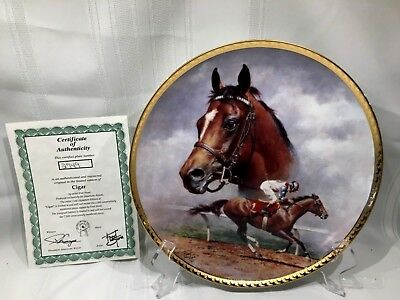 Cigar Collectors Plate By  Fred Stone Artist