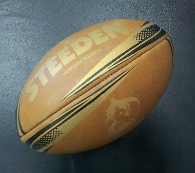 Steeden Rugby League World Cup 2013 Leather Heritage Edition Football NRL *NEW*
