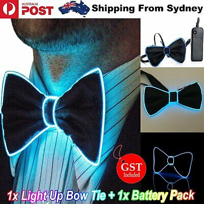 LED Bow Tie Flashing Light Up Glow Bowtie Necktie Party Club Formal Wedding Gift