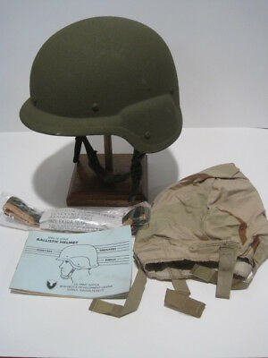 New Unissued Condition Pasgt Kevlar Helmet Dcu Cover Ach Mich Xsmall Stemaco