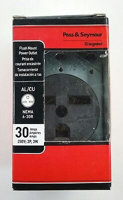 New Pass & Seymour Flush Mount Electrical Appliance 30Amp Power Outlet Free Ship