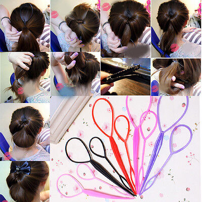 Women Hairdressing Accessory For Braids Pull Hair Pins Donut Big Hair Clips