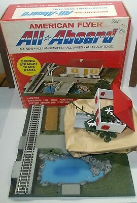 NOS VTG American Flyer 26121 All Aboard Scenic Straight Track Panel S gauge RARE