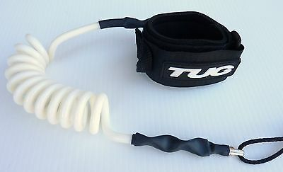 TUG Bodyboard basic coiled wrist leash 3 cuff sizes 4 cord colours