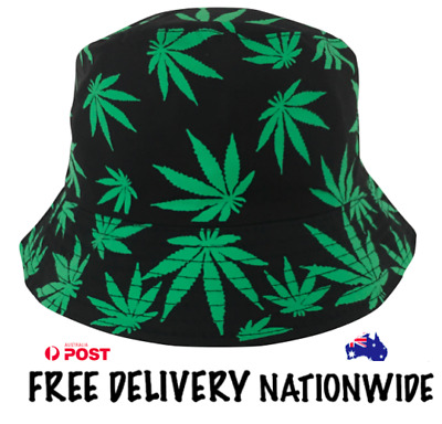 Bucket Hat - Plain Green Cotton - Free Delivery Nationwide.