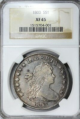 1803 Small 3 BB-253 Bust Dollar $1 NGC XF 45 Nice Coin!