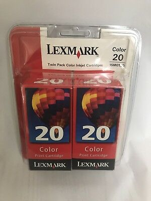 Lexmark 20 Color Inkjet Print Cartridges 15M0120 Twin Pack In Package