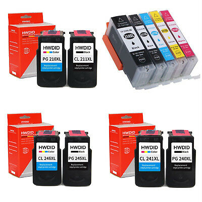 PG245 XL PG 240XL CL241 246 Combo Ink Cartridge Black & Color For Canon Printers