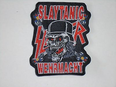 Slayer Slaytanic Wehrmacht Embroidered Patch
