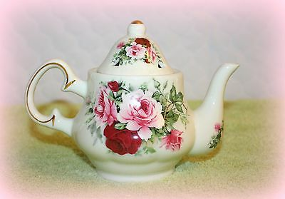 *new* Formalities Small Teapot Incense Burner With Roses