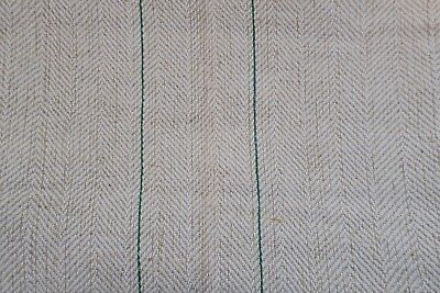 Antique European Hemp Grain Sack Lovely Rare Thin Green Stripes
