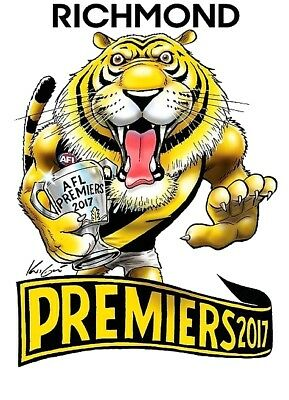 Richmond Tigers Premiers 2017 Sticker or Magnet