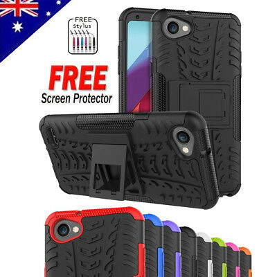 Heavy Duty Tough Kickstand Strong Shockproof Rugged Case Cover For LG Q6