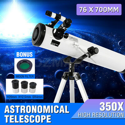 350x HD High Resolution Night Vision Astronomical Telescope Moon Filter 76*700mm