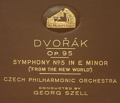 """CZECH PHILHARM.ORCH. & SZELL  Dvorak: Symph. No. 5 """"From the New World""""    A258"""