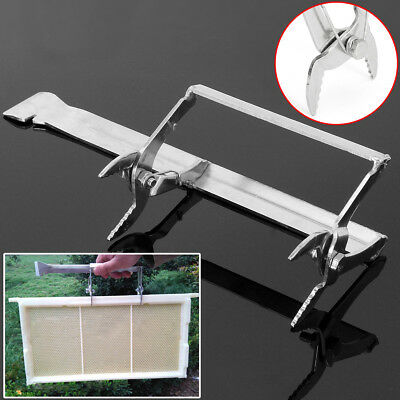 Stainless Steel Bee Hive Frame Holder Clamp Beekeeping Lifter Capture Grip Tool